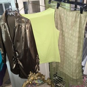 Lime green sleeveless top by Jones & Co Size M